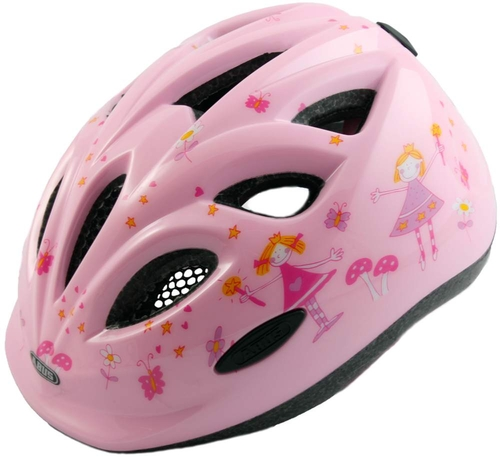 Abus Smiley Cykelhjelm Pink Prinsesse